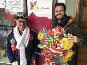 Willem Schoonebeek van de BFC (links) en Bart van Kempen van Helder Camara in Teteringen over het Groot Kielegats Scholenproject